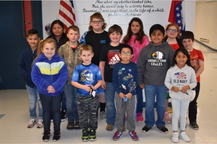 January Star Students at Wickes Elementary