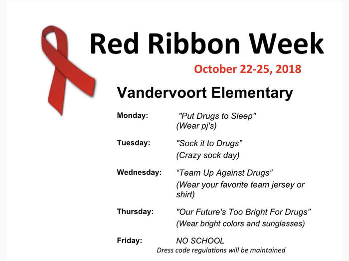 Red Ribbon Week-Vandervoort Elementary