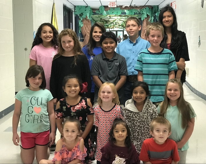 Wickes Elementary September Star Students