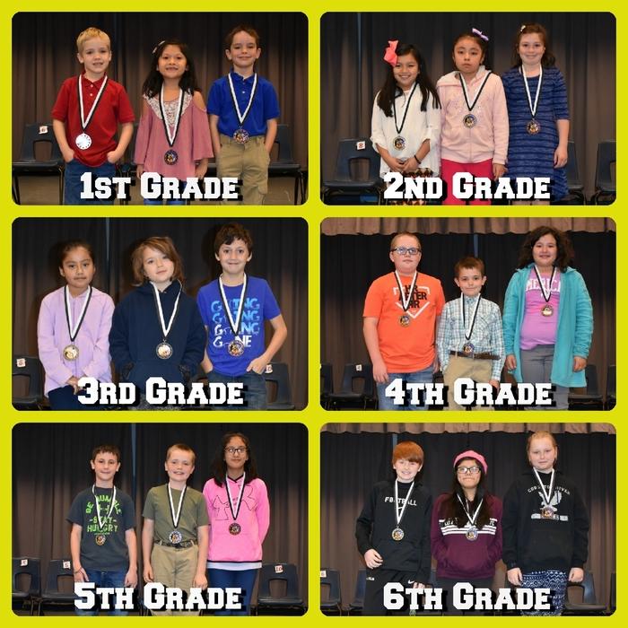Wickes Elementary 2018 Spelling Bee Winners