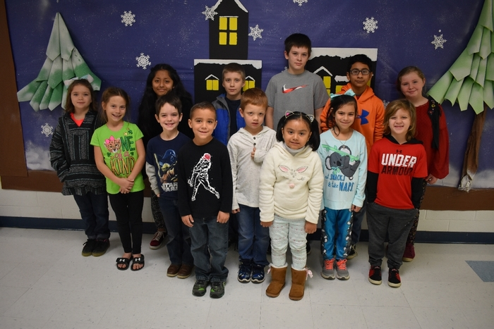Wickes Elementary December Star Students