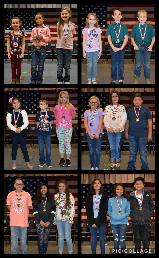 2019 Wickes Elementary Spelling Bee Winners!